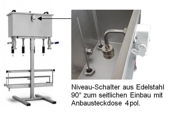 Gebhardt - Niveau - Schalter aus Edelstahl zum seitlichen Einbau