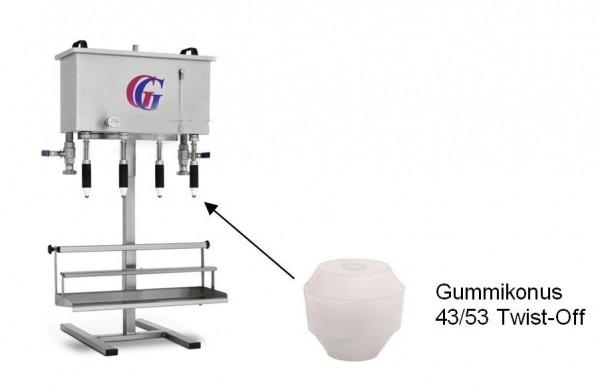Gebhardt - Gummikonus für 43/53 Twist-Off